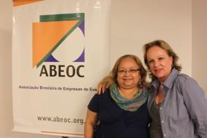 Ângela do Espírito Santo (ABEOC-PA) Anita Pires (ABEOC Nacional, a direita)
