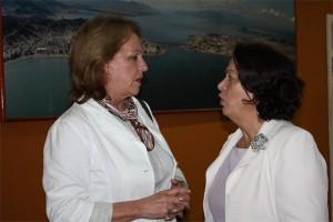 Anita Pires, presidente da ABEOC, e Ideli Salvati, ministra de Relações Institucionais