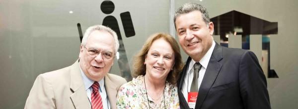Aristides Cury, Anita Pires e Alexandre Sampaio na abertura da Equipotel2012