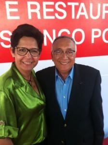 Tatiana Marques e o Ministro Gastão Vieira. Foto de Leonardo Vitoriano