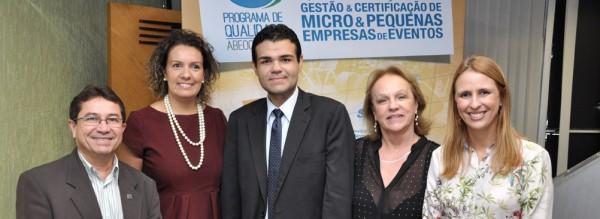 Alcir Porto e Andrea Faria, do Sebrae, Hermano Bezerra, Anita Pires e Gabrielle Nobre, ABEOC BRASIL