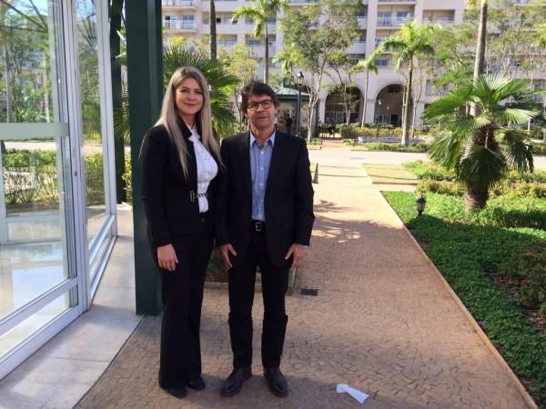 Presidente da ABEOC Ana Cláudia Bitencourt e Vice-presidente de Projetos Jorge Alencar participaram