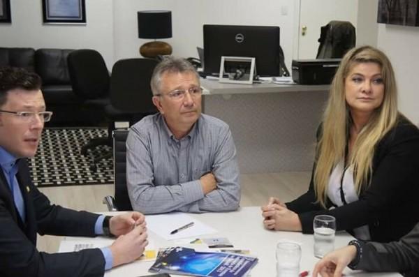 Mauricio Cavichion, Deputado Busato e Ana Claudia Bitencourt/