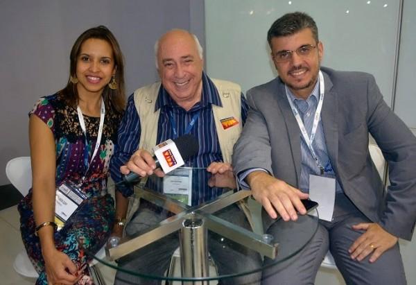 Fernanda Cury, presidente ABEOC GO e VP Comunicação Nacional, José Guilherme Schwam e Nehemias Ramos da Win Eventos